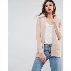 ASOS Knit Open Cardigan Dusty Blush 2
